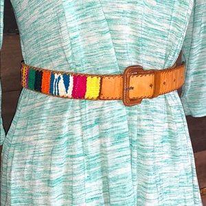 Native leather belt